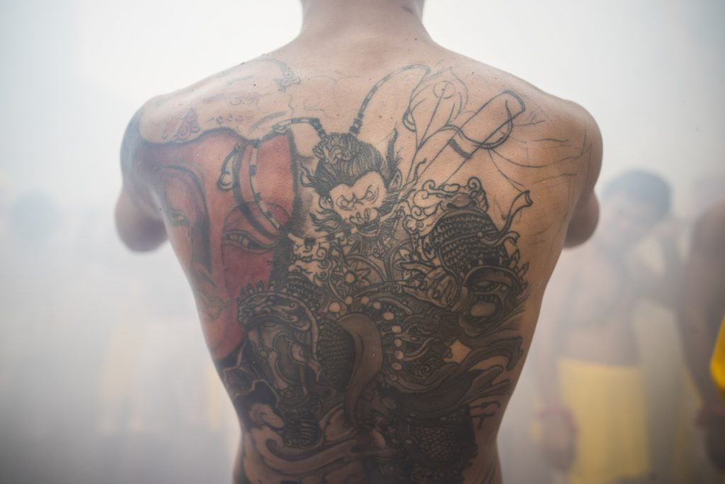 Tattoos and onsen in Japan.