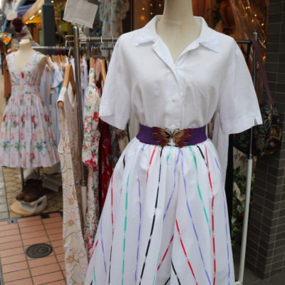 A dress on display at a vintage store in Koenji