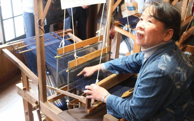 Kimono weaving in Tottori