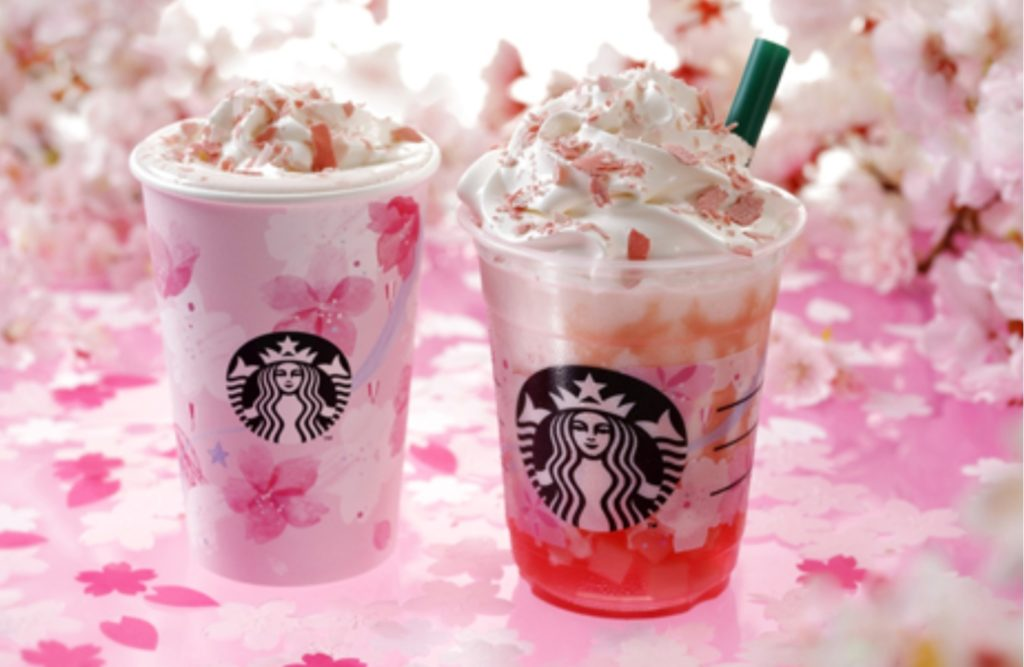 Starbucks sakura themed drinks and products for 2019
