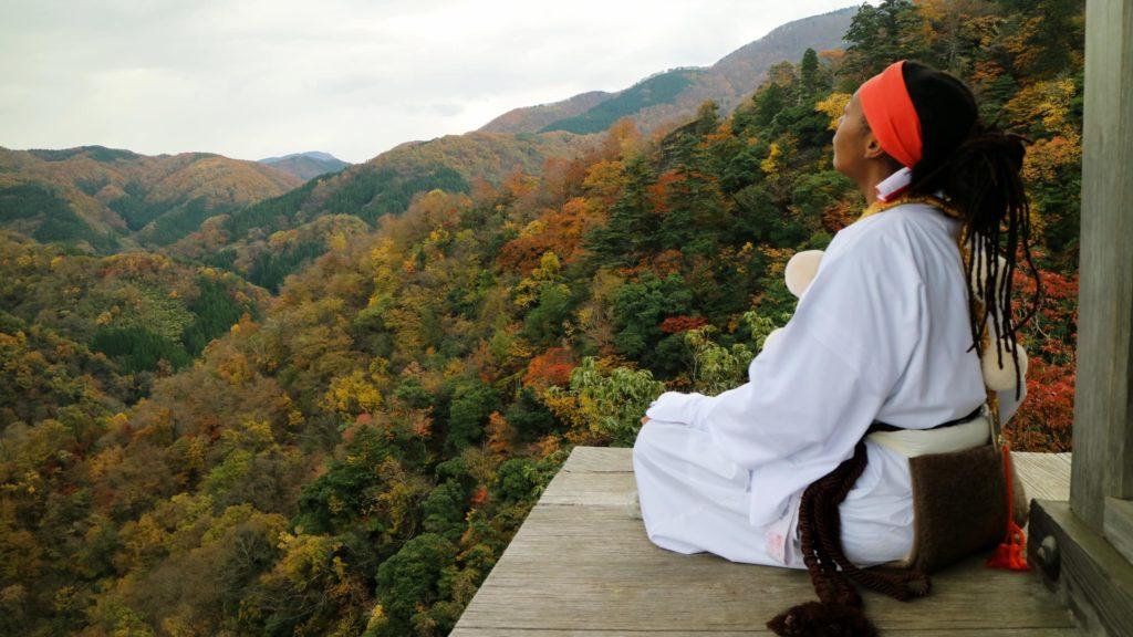 Nageiredo Temple on Mount Mitoku Tottori Japan