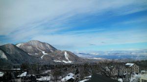 Mountain views at Ryuoo Ski Park in Nagano Japan