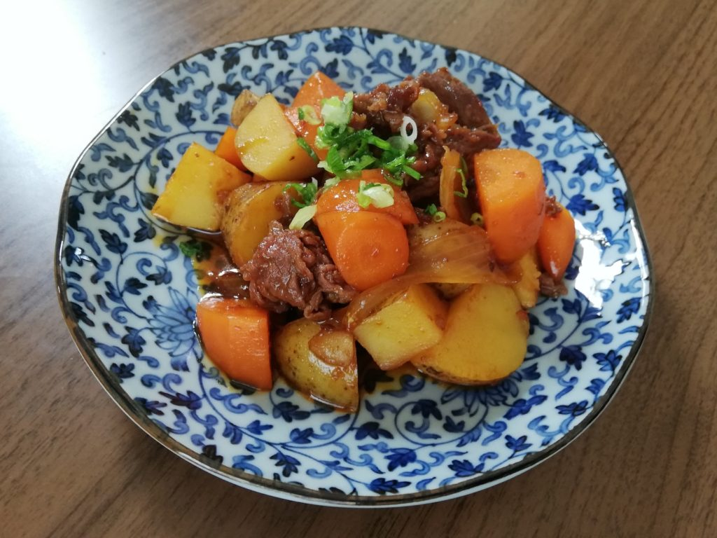 Learn how to make nikujaga Recipe with a kick