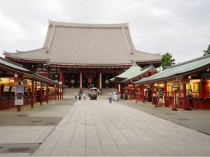 Sensoji Temple in Asakusa during the Coronavirus epidemic in Japan