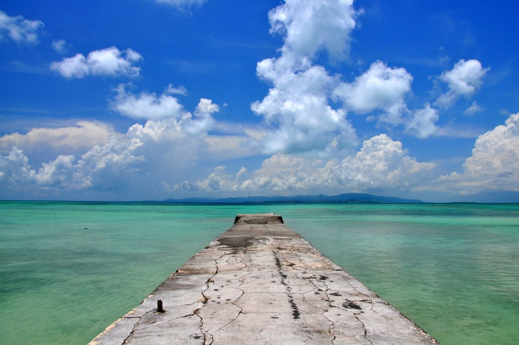 Old pier on Taketomi Island in Okinawa, Japan