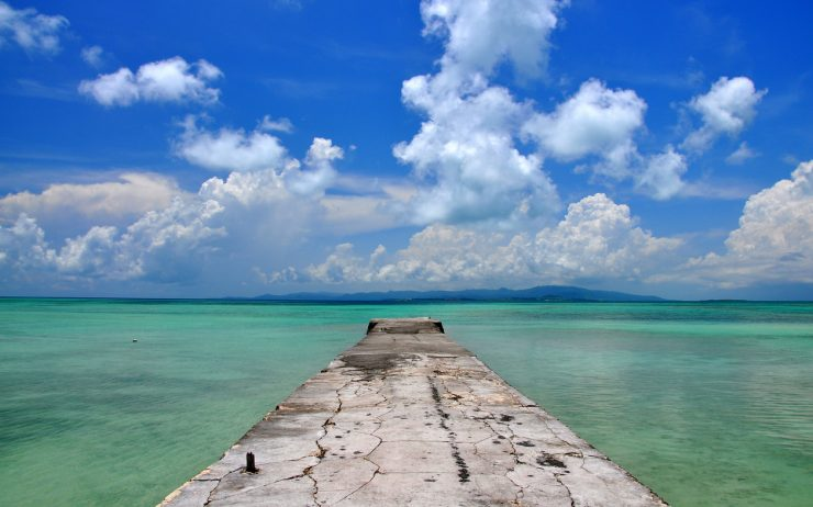 Old pier on Taketomi Island in Okinawa, Japan
