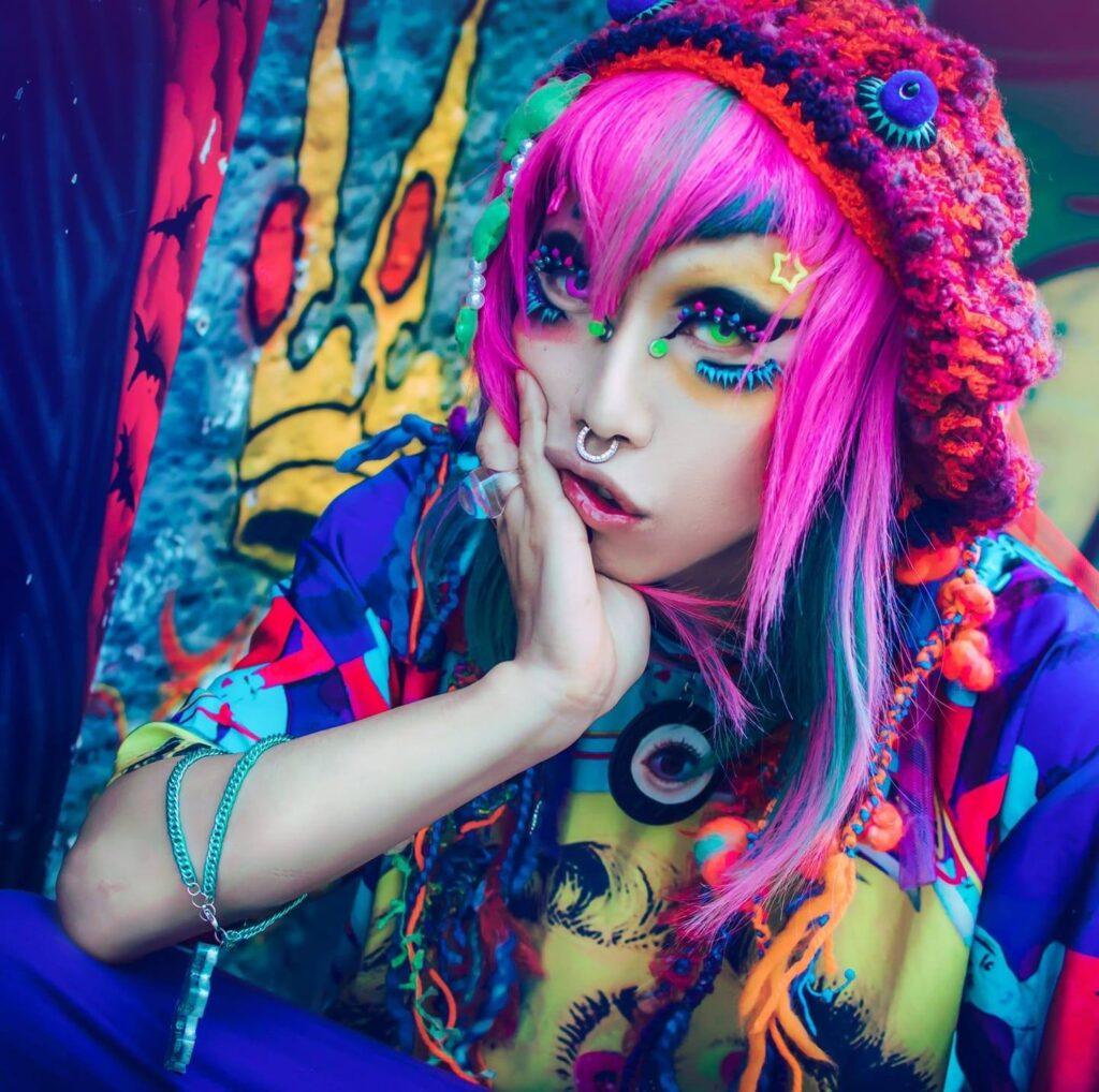 Club personality, DJ and fashion icon Sisen.