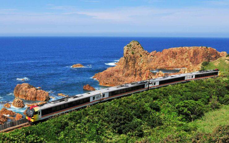 The Resort Shirakami train that runs from Akita to Aomori.