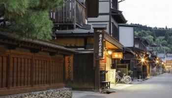 Traditional street in Takayama, Gifu prefecture