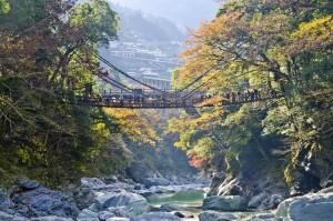 Iya valley and Kazurabashi vine bridge, Tokushima Prefecture