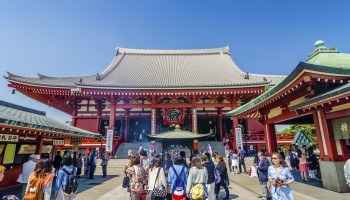 Sensoji Temple in Asakusa , Tokyo