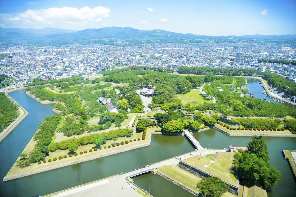 Goryokaku Park in Hakodate, Hokkaido