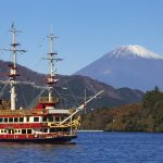 Hop aboard a sightseeing cruise on Lake Ashinoko in Hakone.