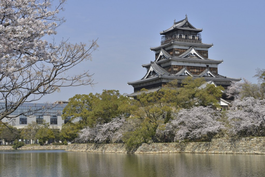 Hiroshima Castle is also known as 'Carp Castle'