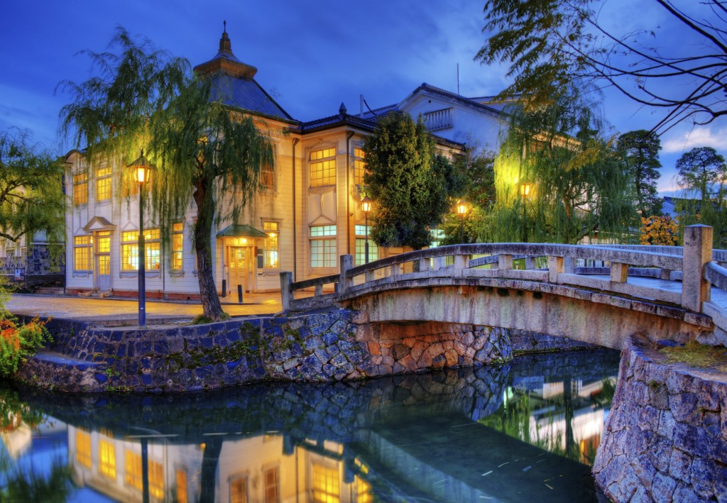 Stroll the canals of Kurashiki in Okayama prefecture.