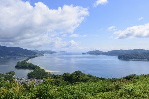Amanohashidate or Bridge to Heaven in Kyoto Prefecture