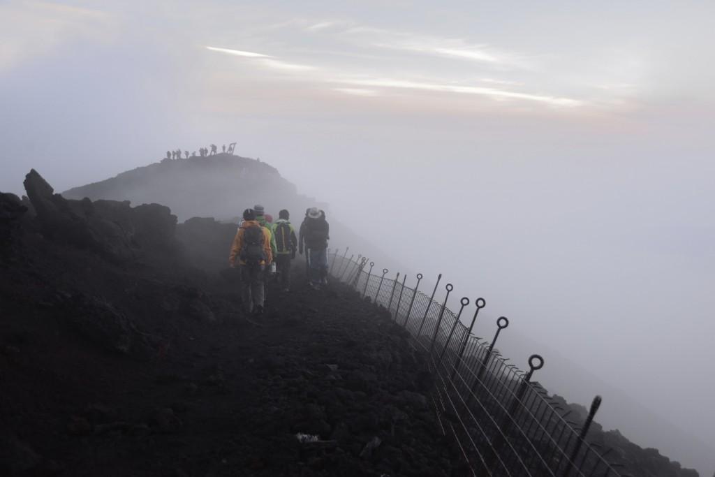 Mount Fuji At Climbing Season