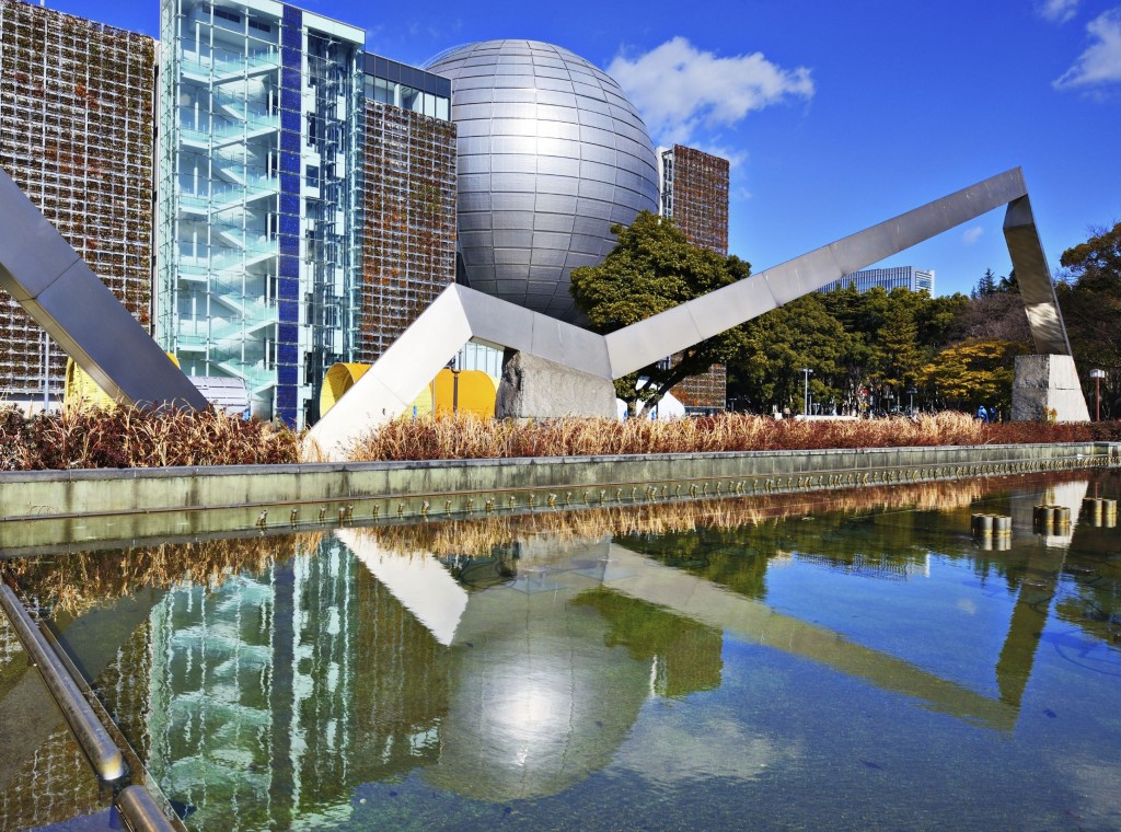 The Nagoya City Science Museum planetarium is one of the biggest in Japan.