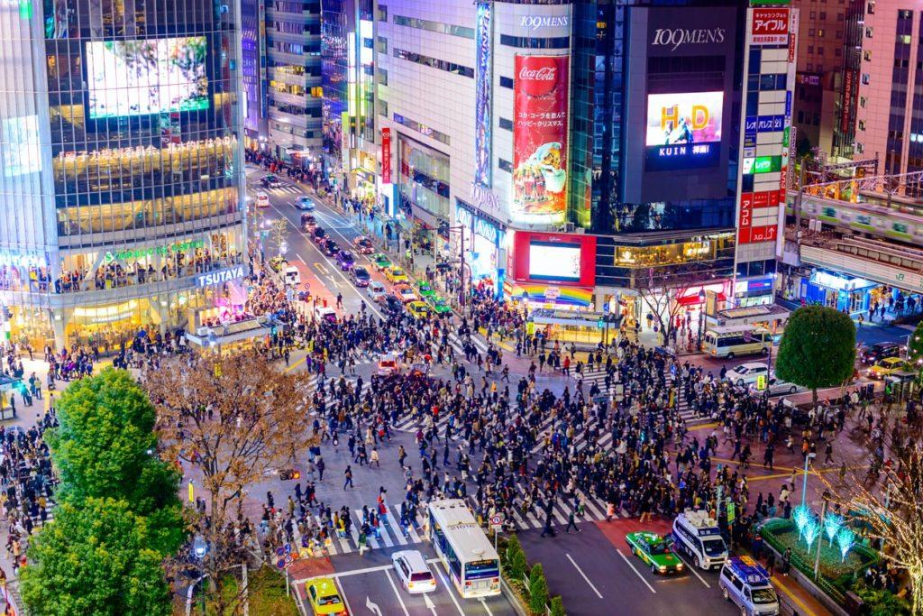 Shibuya Crossing in Tokyo.