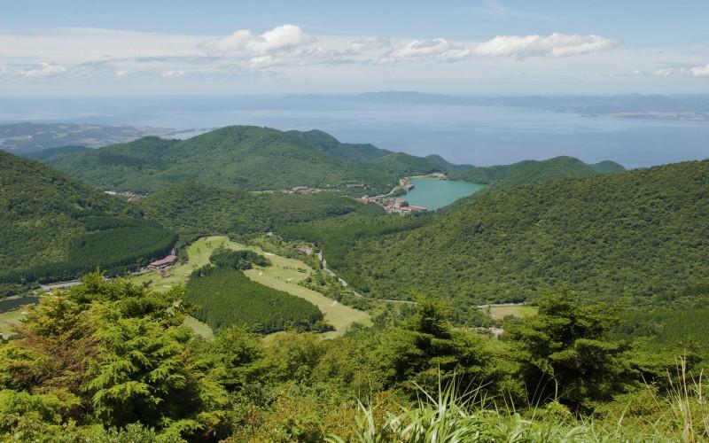 View over Mount Unzen Hot Spring - Shimabara, Nagasaki Prefecture Japan