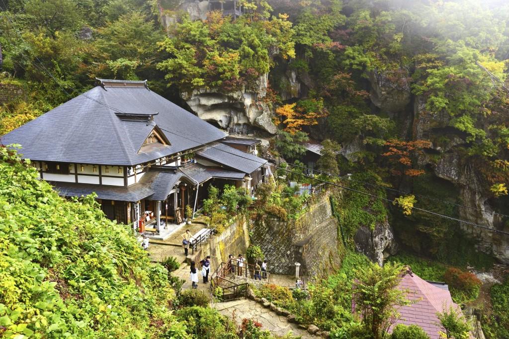 Yamadera temple in Yamagata Prefecture in the Tohoku region