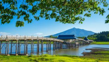 Tsurunomaihashi Bridge in Aomori Prefecture.
