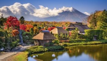 View of Mt Fuji Yamanashi Prefecture