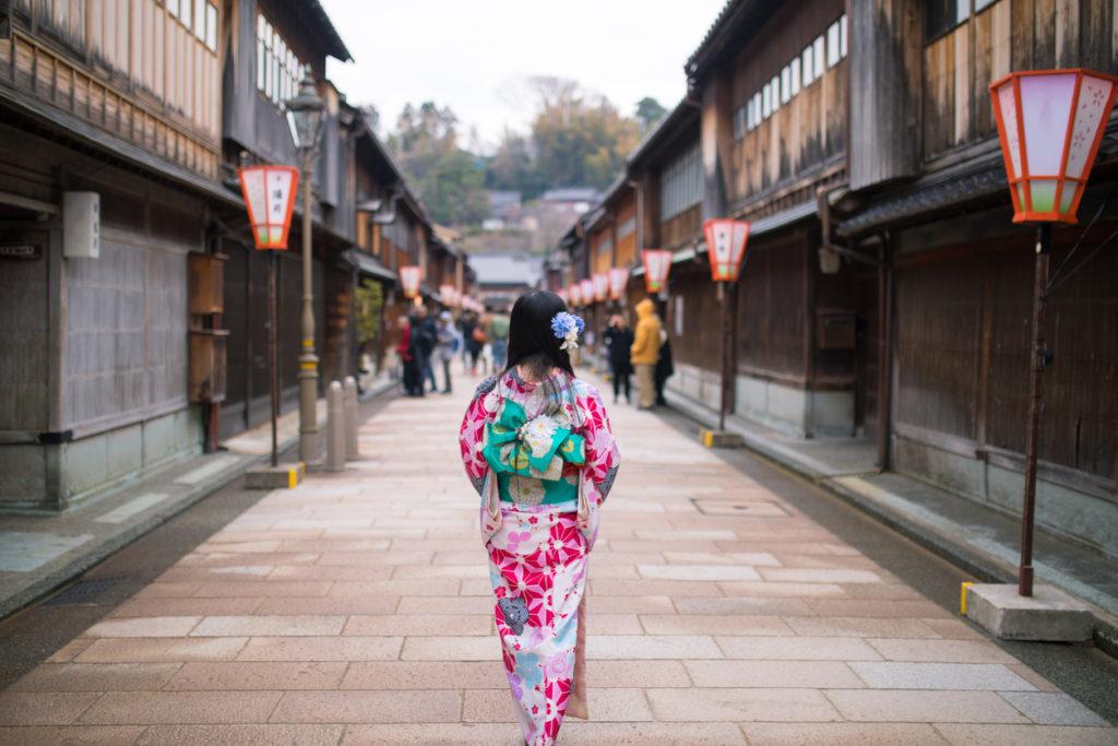 Kanazawa in Ishikawa, Japan.