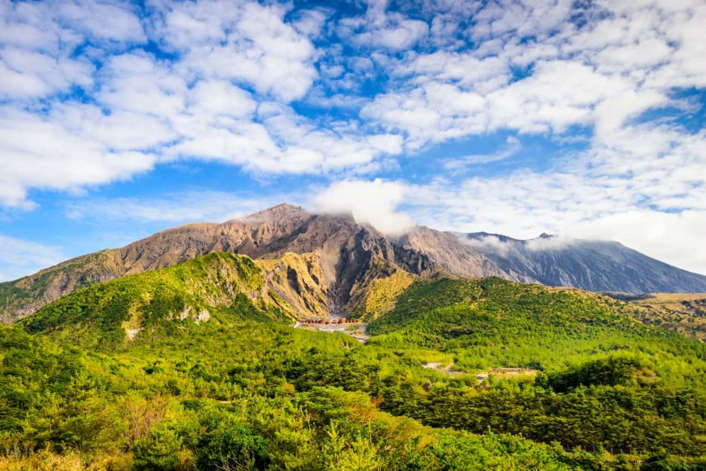 Sakurajima in Kagoshima, Japan.