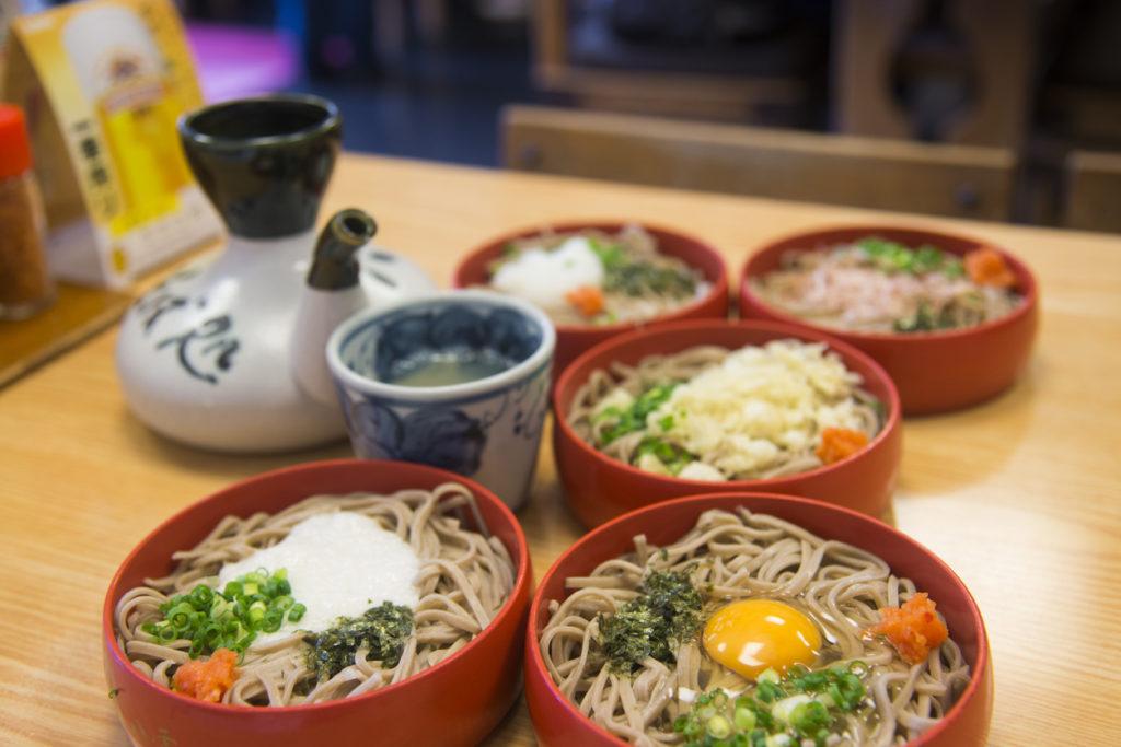 Warigo soba Izumo local cuisine in Shimane prefecture, Japan