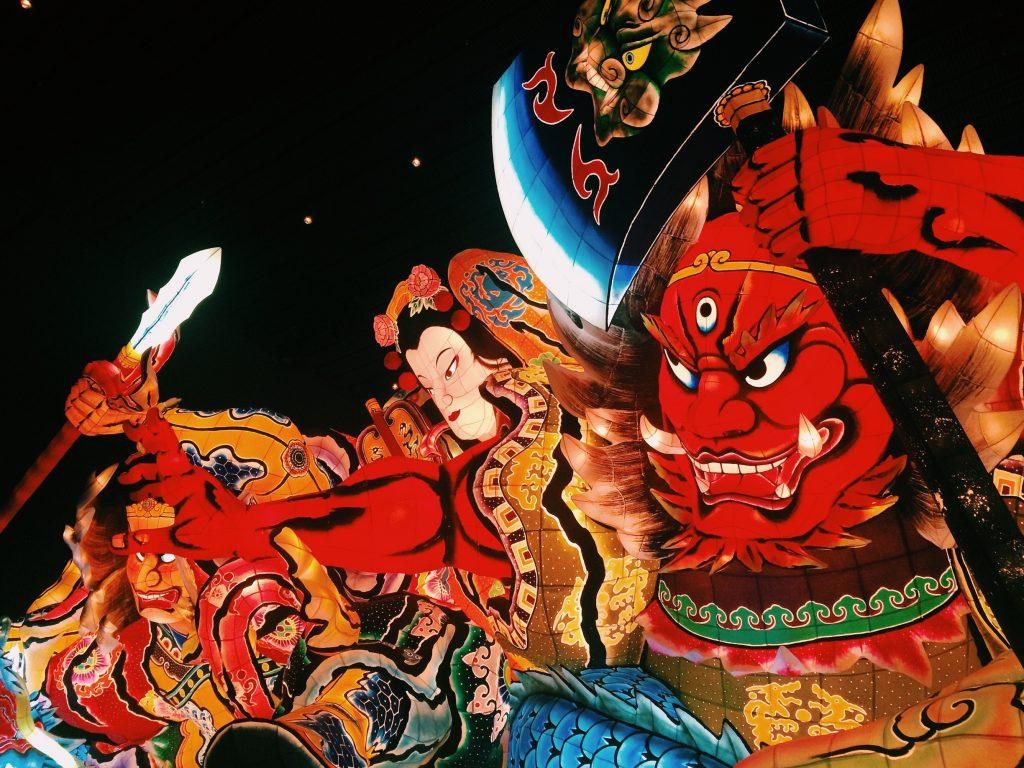 Aomori city Nebuta festival giant float