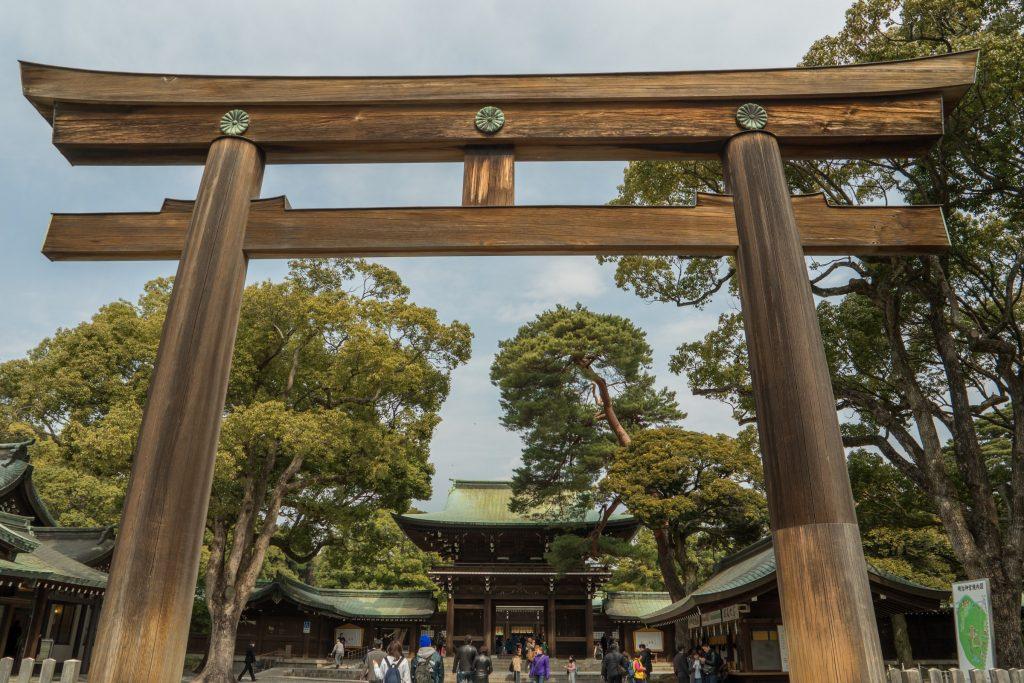 Torii gate at Meiji Jingu