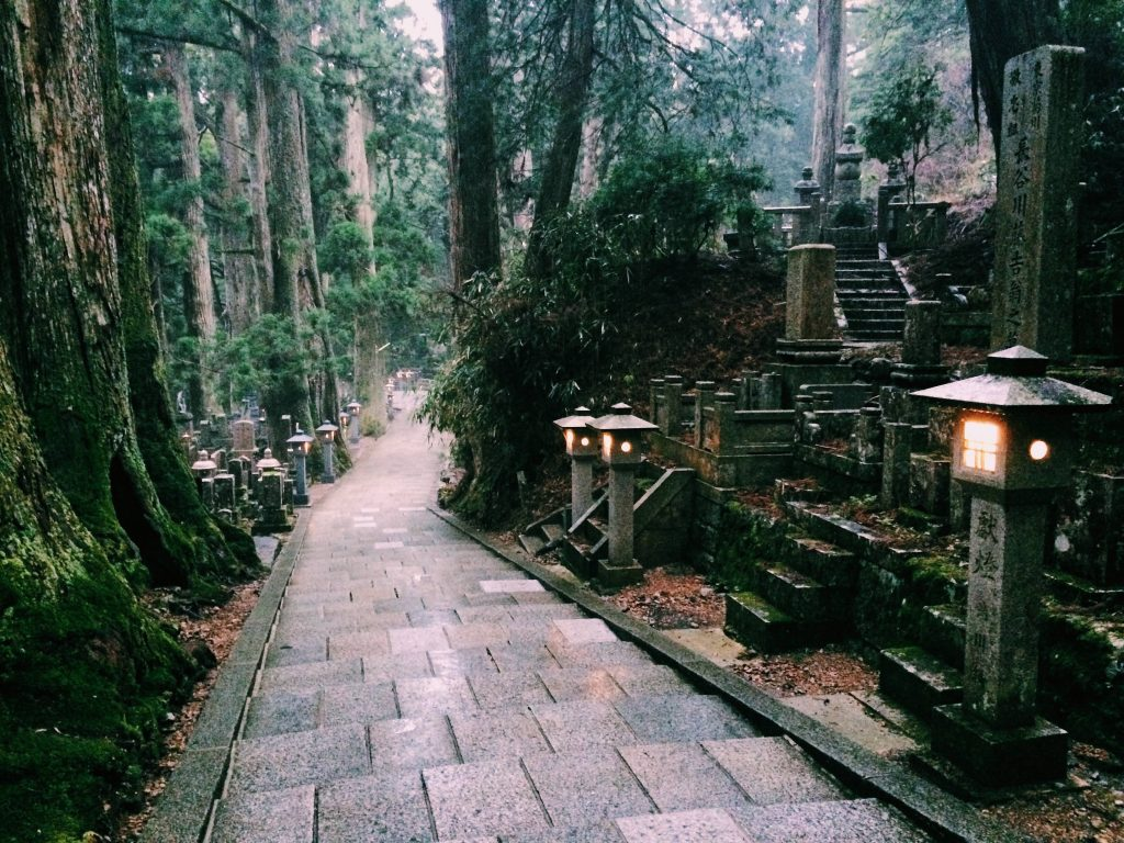 Okunoin cemetery on Mount Koya