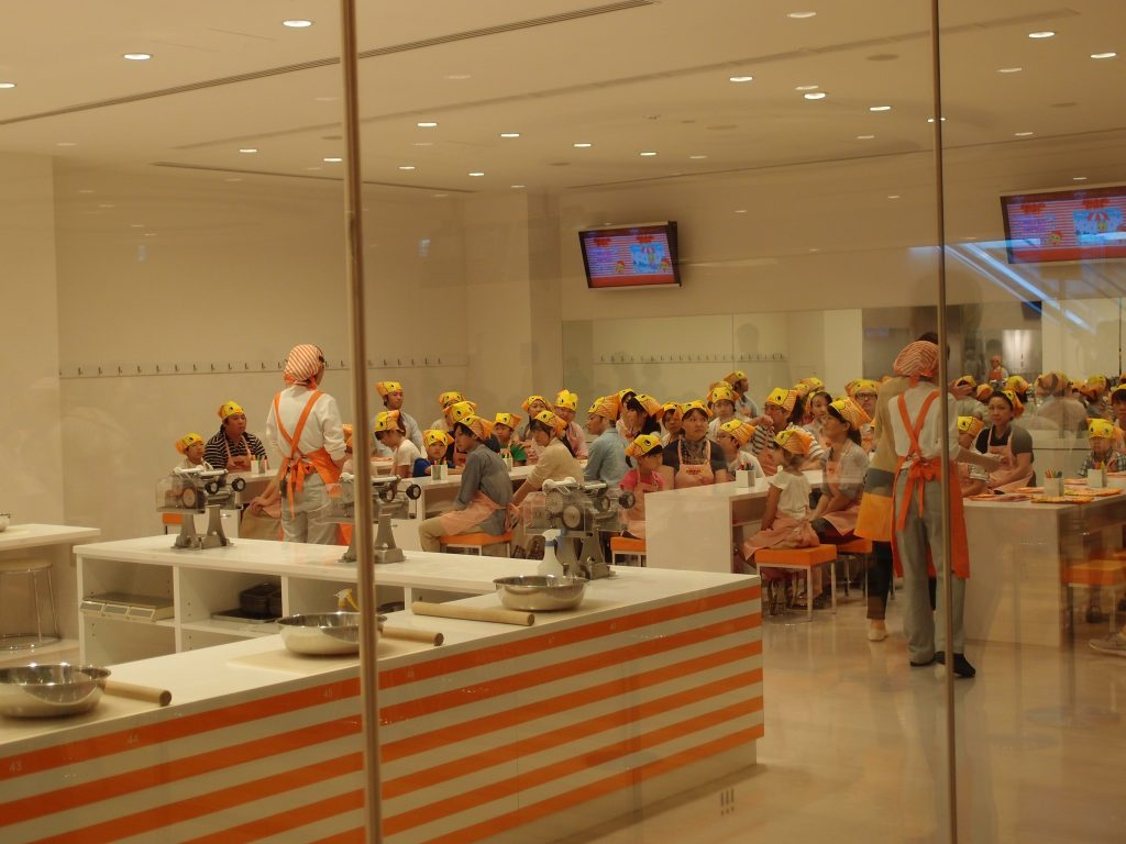Learning how to make ramen at the Yokohama Cup Noodles Museum