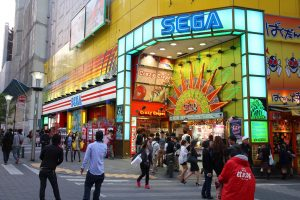 People visit Sega Ikebukuro arcade game centre on May 11, 2012 in Tokyo. Sega is a profitable company with US $4.9 billion revenue in 2011.