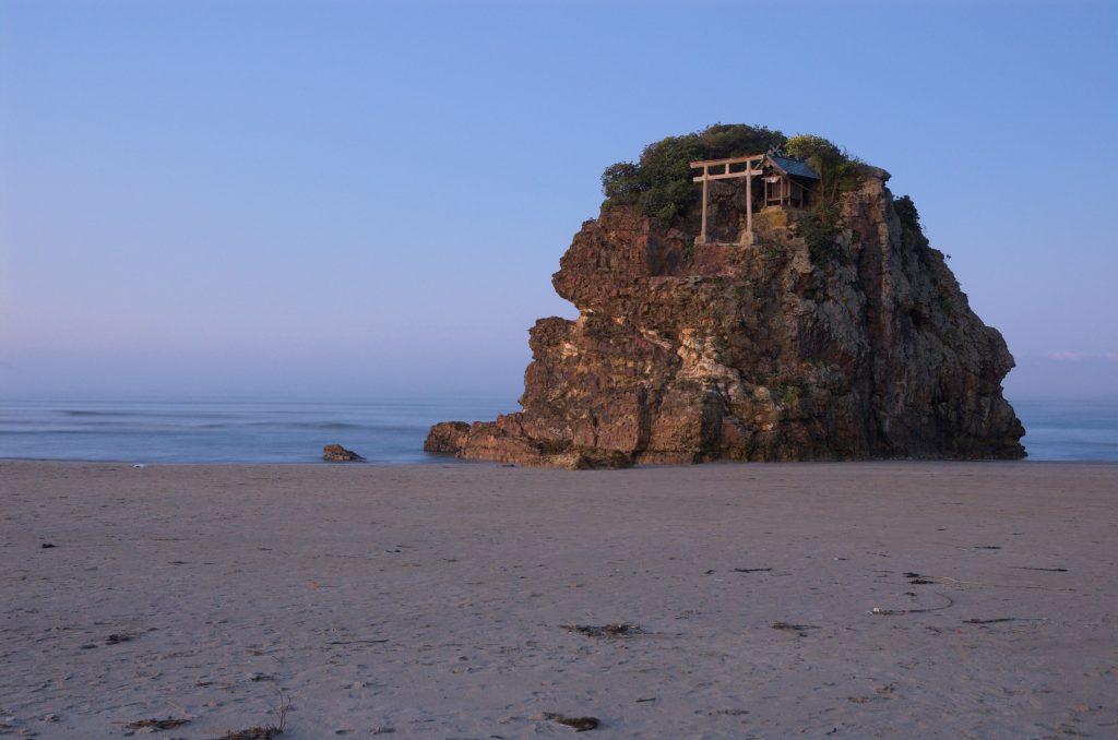Benten Jima Shrine on Inasanohama Beach