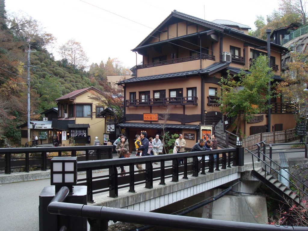 Picturesque streets of Kurokawa Onsen Kyushu.