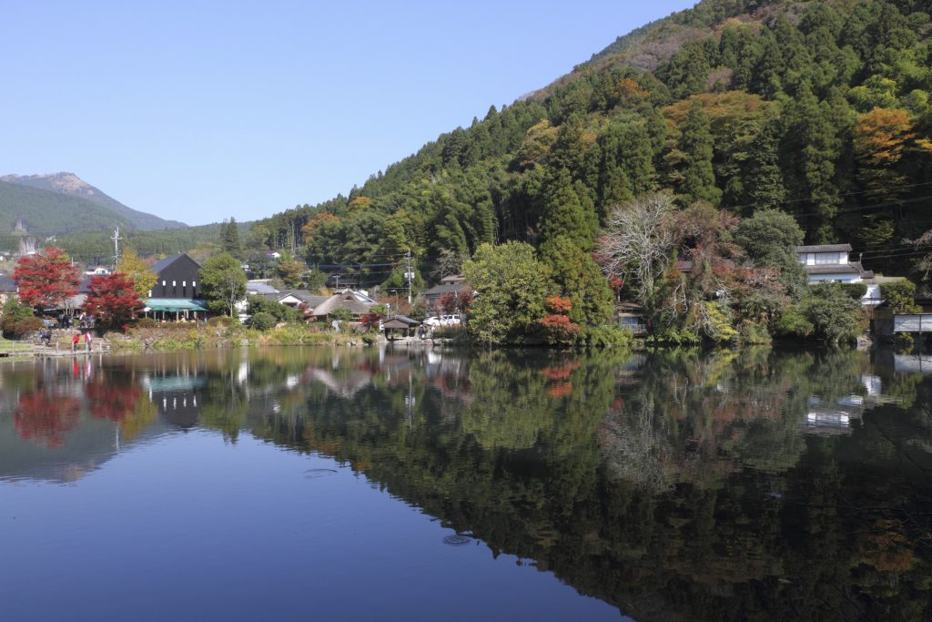 Famous Lake Kinrinko located in Yufuin, Kyushu, Japan.