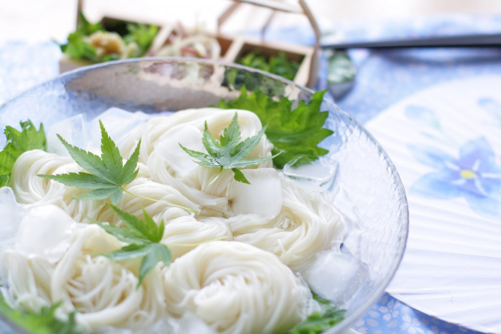 Cold somen noodles are a fantastic summer food.