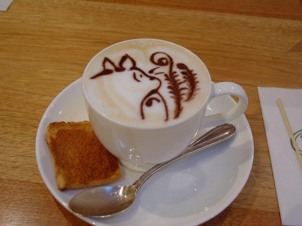 Totoro latte