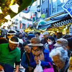 Ameya Yokocho market in between Ueno Station and Okachimachi Station.