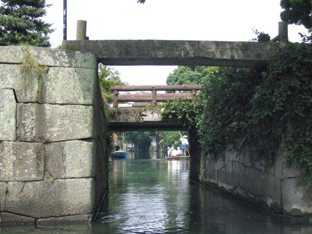 Bridges in Yanagawa, Fukuoka.