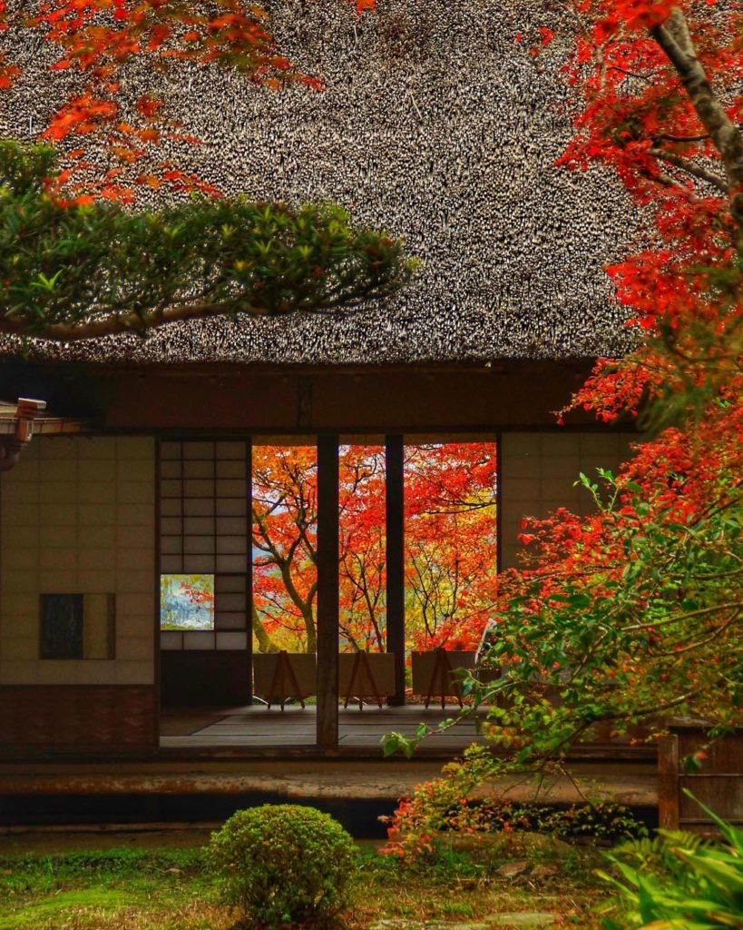 Kunenan Mansion Saga Autumn Leaves in Japan