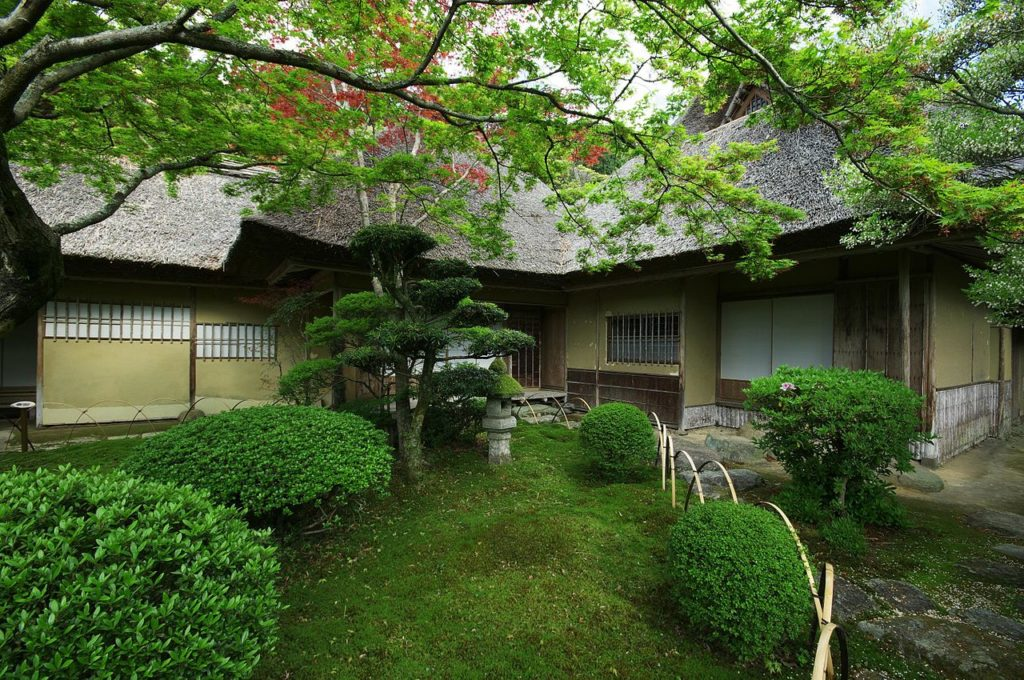 Kunenan Mansion from Saga Prefecture Japan in Spring
