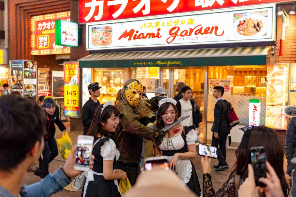Shibuya Halloween in Tokyo Japan