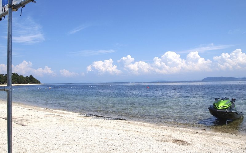 Omi Maiko Beach on Lake Biwa