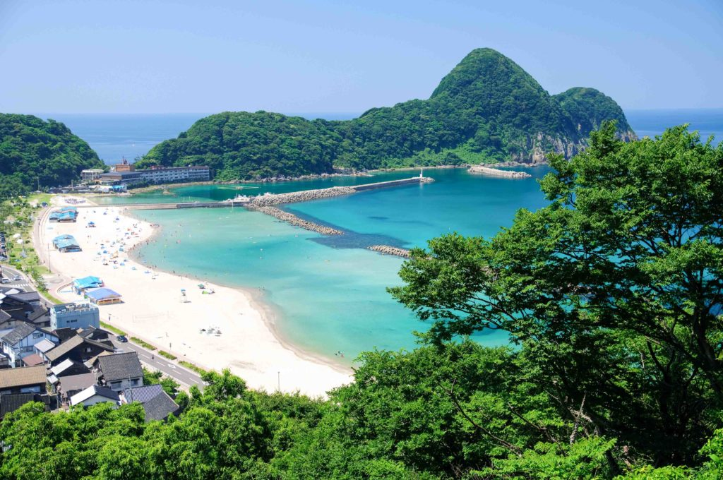 Takenohama Beach in Hyogo Prefecture, Japan