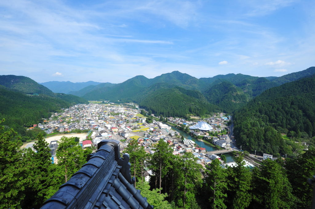View from Hachiman Castle