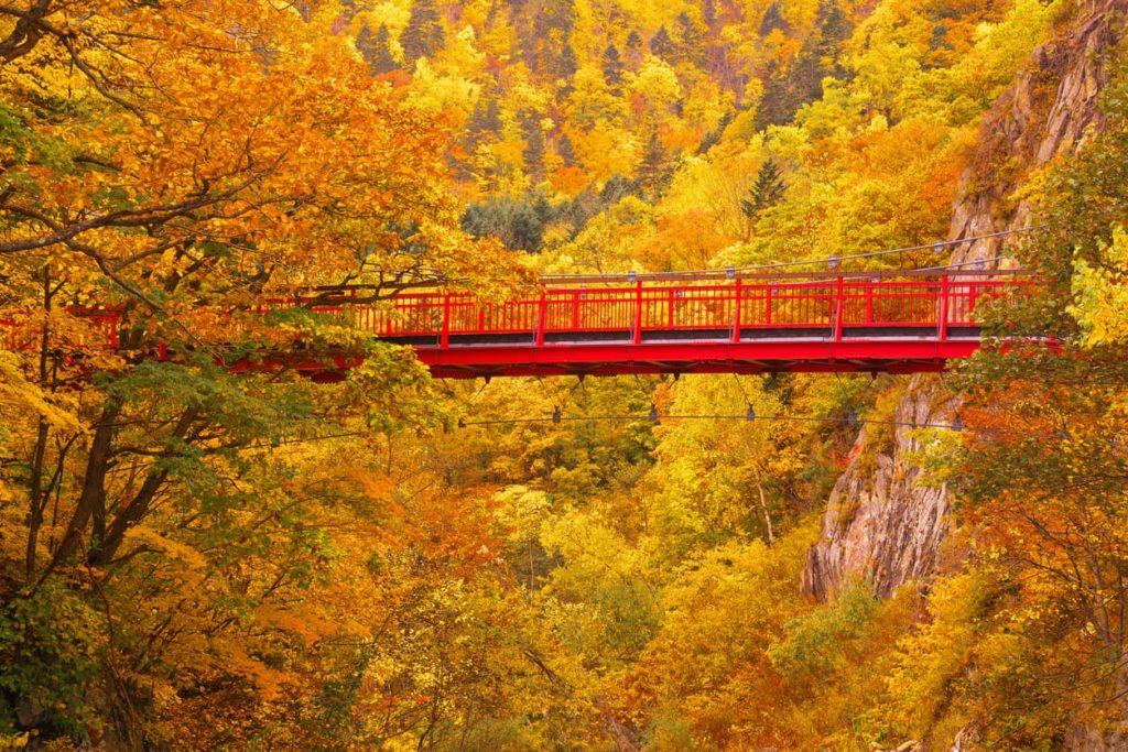 Futami Suspension Bridge Jozankei Onsen in Sapporo, Hokkaido