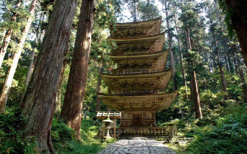 Mount Haguro's pagoda.